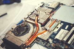 Computer processor with fan royalty free stock photos