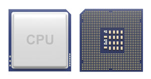 Computer processor isolated on white Royalty Free Stock Photos