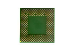Computer processor isolated Royalty Free Stock Image