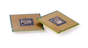 Computer processor isolated on white background Stock Photo