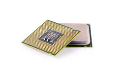 Computer processor isolated on white background Stock Photos
