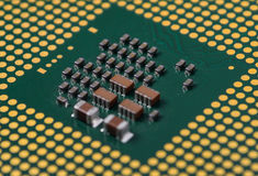 Computer processor macro shot Stock Photo