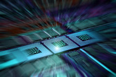 Computer Processor and memory modules. Background Royalty Free Stock Photos