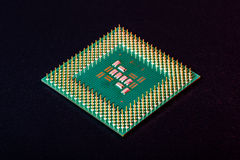 Computer processor. Computer part: microprocessor's bottom view Stock Image