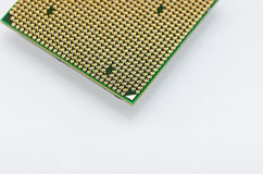 Computer processor. A computer processor on a white background Stock Image
