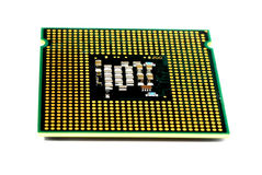 Computer processor. On white background Stock Images