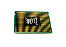 Computer processor. On white background Royalty Free Stock Image
