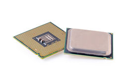 Computer processor  on white background Stock Photos