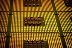 Computer processors aligned. cpu computer background Royalty Free Stock Image