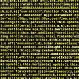 Computer program preview. Programming code typing. Information technology website coding standards for web design. Modern tech. CSS, JavaScript and HTML usage royalty free stock photography