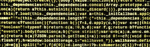 Computer program preview. Programming code typing. Information technology website coding standards for web design. Modern tech. CSS, JavaScript and HTML usage stock images