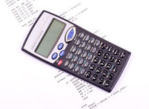 Computer program and scientific calculator stock image