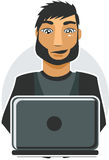 Computer Programmer in vector Stock Photo