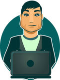 Computer Programmer in vector Royalty Free Stock Photo