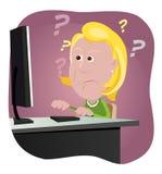 Computer-Programmfehler bei der Arbeit Stockfotos