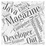 Computer programming magazines word cloud concept word cloud concept  background Stock Photography