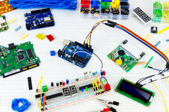 Computer programming microelectronics Stock Images