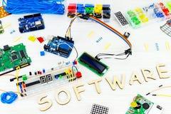 Computer programming microelectronics Stock Photo
