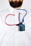 Computer programming microelectronics stock image