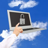 Computer programming security Stock Photography