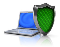 Computer protection royalty free illustration