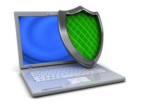 Computer protection vector illustration