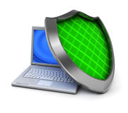 Computer protection Royalty Free Stock Photography
