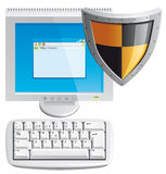Computer protection Stock Image