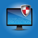 Computer protection stock illustration