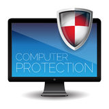 Computer protection Royalty Free Stock Image