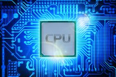 Computer-Prozessor Stockbild