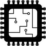 Computer-Prozessor-Vektor-Ikone Stock Abbildung