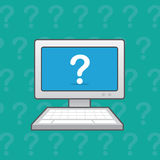 Computer Question Mark Royalty Free Stock Photo