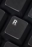 Computer R key Stock Photos