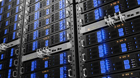 Free Computer Rack Servers Royalty Free Stock Photography - 65471637