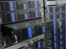 Computer rack servers Royalty Free Stock Photos