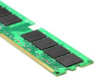Computer ram. Over white background Stock Photography