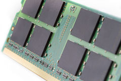Computer RAM. Closeup of a computer RAM in perspective Stock Photography