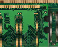 Macro of Computer RAM Memory Card Royalty Free Stock Photos