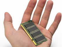 Computer RAM memory cards white background Royalty Free Stock Images