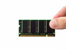 Computer RAM memory cards white background Stock Image
