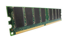 Computer ram memory chip Royalty Free Stock Image