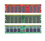 Computer ram memory high resolution scanned Royalty Free Stock Image