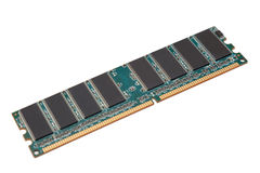 Computer RAM memory module. In white background stock photos