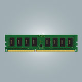 Computer RAM. (Random-Access Memory) Chip . RAM Memory Module. Vector Illustration Royalty Free Stock Images