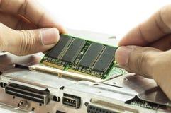 Computer RAM upgrading stock photos