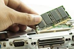 Computer  RAM  upgrading Stock Image