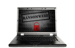 Computer ransomware concept Stock Photos
