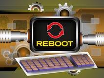 Computer reboot Stock Image