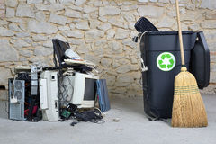 Computer recycling two Royalty Free Stock Photography